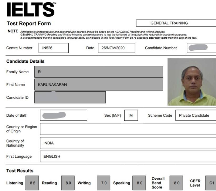 IELTS 2020 Band 8.0 Masterprep Ielts Bangalore