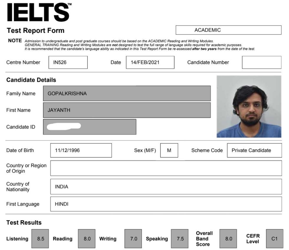 IELTS Preparation Course Bengaluru